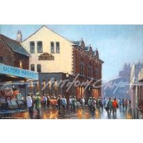 The Flat Iron - Salford Market nostalgic fine art print of Salford by E Anthony Orme