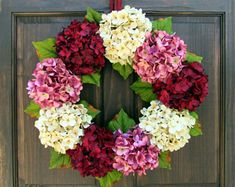Spring Wreath for Front Door, Wreath for Spring, Hydrangea Wreath, Spring Summer Wreath, Summer Hydrangea Wreath, Spring Door Decor, Wreath