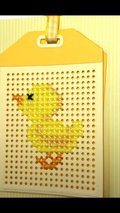 Easter Card #mft Cross Stitch Beginner, Tiny Cross Stitch, Cross Stitch Boards, Counted Cross Stitch Patterns, Cross Stitch Designs, Cross Stitch Embroidery, Stitching On Paper, Cross Stitching, Sewing Cards