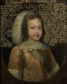 Französische Schule des 17. Jahrhunderts  PORTRAIT KÖNIG LUDWIG XIV, 1644 Öl auf Leinwand. 62 x 49,5 cm. Dem Kind, das dem Betrachter sehr selbstbewußt entgegen blickt, wird ein großes Schicksal...