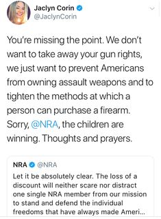 *Most Gun Owners ARE NOT NRA Members!* I'm a law abiding gun owner, wife of a veteran, mother, liberal, feminist, pro-choice, pro- science, secular humanist. I completely support common sense gun laws & have never supported the NRA. If I have to do extra pprwrk, wait a few more days, take extra training, etc... to make this country's gun laws safer, I welcome it. #GunOwnersAgainstTheNRA #CommonSenseGunLawsNow #GunOwnersForGunControl #FuckTheNRA #BanTheNRA #FuckTrump #FuckTheGOP