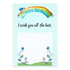 Happy New Year Blue Bird Greeting Card - New Year's Eve happy new year designs party celebration Saint Sylvester's Day