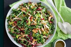 What's easy to prepare and is packed with nutrients, fibre and flavour? The humble silverbeet makes a comeback in this slaw. It's vegan and no cook - so it's super easy to prepare.
