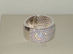 Sterling Silver wedding Band,7row 925 Engagement diamond Eternity Ring Size 9/S