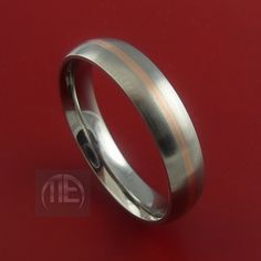 Rose Gold and Titanium Ring Custom Made Band by StonebrookJewelry, $124.92