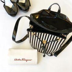 Salvatore Ferragamo Striped Backpack