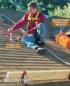 A minimal investment in roof brackets will immediately reward you with much greater roof safety and convenience. But if you have to spend a lot of time up t Roof Safety Harness, Roof Brackets, Diy Roofing, Roof Installation, Fibreglass Roof, Cool Roof, Roof Repair, Home Repairs, Metal Roof