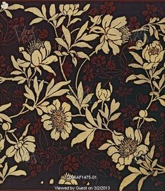 Furnishing fabric, by Lewis Foreman Day. England, late 19th century