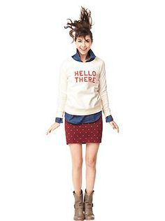 white sweater and maroon color bottom
