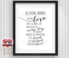 In Loving Memory Quotes In Loving Memory Of Print Memorial Table Wedding Memorial Sign
