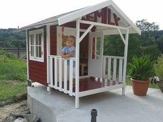 2 spielhaus mit rutsche selber bauen spielhaus. Black Bedroom Furniture Sets. Home Design Ideas