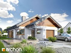 Dom w liredach Beautiful House Plans, Beautiful Homes, Modern Exterior, Exterior Design, Apex Homes, Bungalow Floor Plans, Tuscan House, Mid Century House, Traditional House