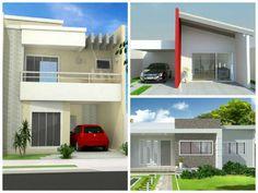 fachada de casas modernas com telhado - Pesquisa Google