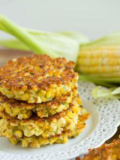 Жаренные кукурузные оладьи