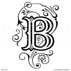 Decorate your walls with custom vinyl stencils that fit your space and style. Use monogram stencils to paint letters, initials, and classic script typography.