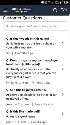 That reply asking if Tiger Woods is in Everybody's Golf.