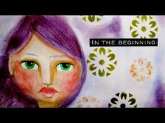 Mixed media art journal page series: Girl face drawing #9 - YouTube