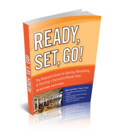 Finally - a book that helps salon owners to open, remodel, and run a successful business! Ready, Set, Go! Is the ultimate resource guide for opening, remodeling  running a successful beauty salon.