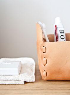 Inspiration for custom bathroom baskets...