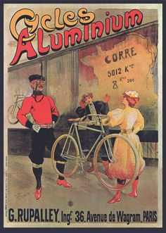 1895 Vintage Cycle Posters Aluminum Bicycle by StoneyPrints