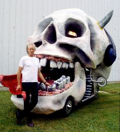 I helped (on the wheels) of this art car which won a top award in the Houston Art Car Parade