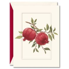 Pomegranates Recycled Holiday Card: A symbol of abundance and good luck, the pomegranate makes for the perfect holiday greeting. The recipient of this greeting card should know that cheer and the tastiest of Christmas cookies are surely in their future. Greeting Card Box, Holiday Greeting Cards, Christmas Cards, Christmas Cookies, Holiday Invitations, Wedding Invitations, Pomegranate Wedding, Spa Birthday Parties, Greetings Images