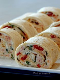 Food for thought: Ρολάκια καπνιστής πέστροφας Finger Food Appetizers, Finger Foods, Brunch Recipes, Dessert Recipes, Desserts, Greek Recipes, Food And Drink, Cooking Recipes, Lunch