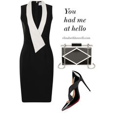 LIZ by elizabethhorrell on Polyvore featuring polyvore, beauty, Paper Dolls and Christian Louboutin