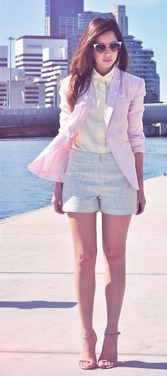 Colour-blocking pastels from the blog Friend in Fashion
