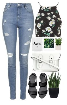 """Shake It Out"" by annaclaraalvez ❤ liked on Polyvore featuring Topshop, The Cambridge Satchel Company, KEEP ME and Lux-Art Silks"
