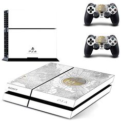 MightySticker® PS4 Designer Skin Game Console + 2 Controller Decal Vinyl Protective Covers Stickers for Sony PlayStation 4 - Destiny Fate the Taken King Legendary Code White Map Edition