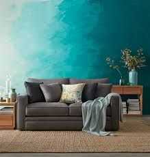 Image result for ombre teal interior
