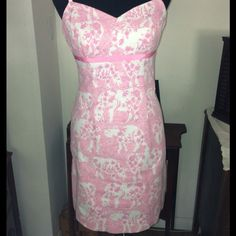 Lily Pulitzer Having to relist a Lily it's to tight in my chest area! Mint condition, it's a size 2. 97% cotton, 3% spandex. I'm listing what I paid for it! My loss is your gain!!!  lily pultizer Dresses