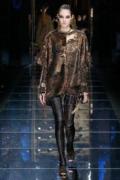 Balmain Fall 2017 Ready-to-Wear collection...glitter leggings and oversized T