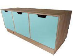 Trio Multi Purpose Storage Box - Sweet Aqua $395.00 Handcrafted by RAW Sunshine Coast www.rawsunshinecoast.com.au