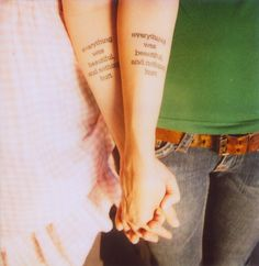 i don't have a sister to get a matching tattoo with. i've got @Emily Prewett though. lets get taddpily. :)