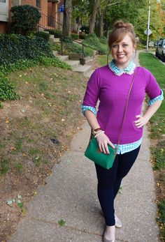 #fallfashion #gingham #pearl #topknot #collar #necklace opal-and-violet.blogspot.com