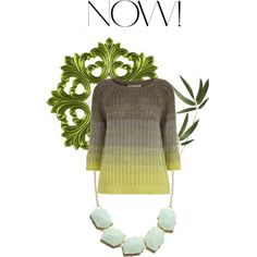 """Gradient cotton-knitted sweater"" by nougatlondon on Polyvore"