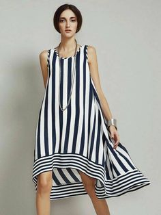 Discover thousands of images about Knee Length Round Neck Chiffon Loose Dresses Lovely Dresses, Simple Dresses, Day Dresses, Casual Dresses, Short Dresses, Fashion Dresses, Summer Dresses, Loose Dresses, White Fashion