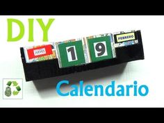 Diy calendario. Reciclamos cartón y papel para hacer un calendio perpetuo. Patrón de Cubo: http://brisareutiliza.blogspot.com.es/2014/02/patron-para-hacer-un...