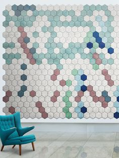 Acoustic Wood Wool TilesBAUX ACOUSTIC HEXAGON by BAUX | #design Form Us With Love @bauxdesign