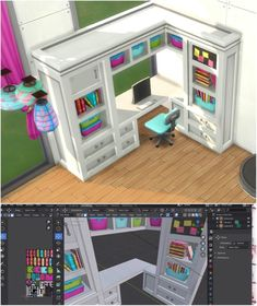 Sims 4 Cc Folder, Sims 4 Kitchen, Muebles Sims 4 Cc, The Sims 4 Packs, Cute Office Decor, Sims 4 Bedroom, Sims 4 House Design, Sims 4 Clutter, Sims 4 Collections