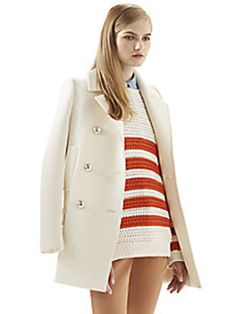 Gucci - White Wool Peacoat - Saks Fifth Avenue Mobile