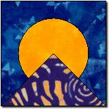 Moon Over the Mountain - definitely something that would work for a block for a scouting quilt.