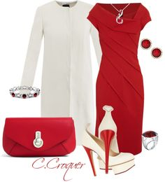 """Ruby Red!!"" by ccroquer ❤ liked on Polyvore // absolutely love this red dress!!!!"
