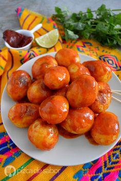 Papas al chipotle o o papas adobadas picosas www.pizcadesabor.com