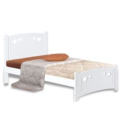 Heart White Wooden Bed Frame | Next Day - Select Day Delivery