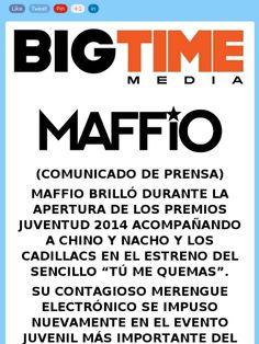 #PressRelease @maffio brillo en la apertura de #premiosjuventud  https://madmimi.com/s/b73415?o=tm via @bigtimemedia
