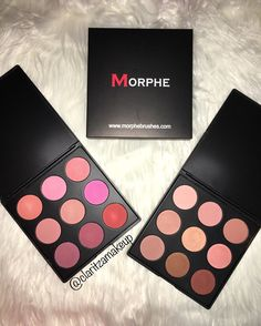Morphe 9B and 9N blush palettes. These palettes are amazing. Check out my blog to see swatches and a review!