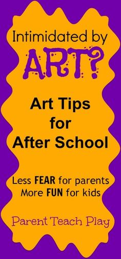 art tips -- how to set up an art station, projects for kids who don't like to get their hands dirty, and tips for managing messy play.  Bring on the art!